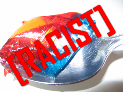 Photo of racist jello