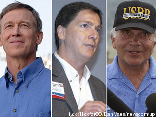 The three candidates for Colorado's Governor: John Hickenlooper, Dan Maes, Tom Tancredo.